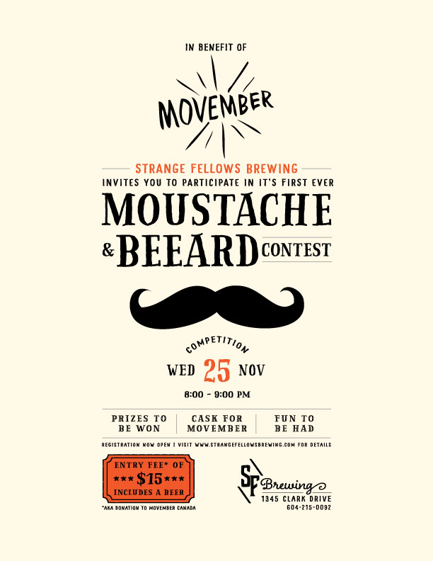 NOV 25 – Moustache & Beeard Contest!
