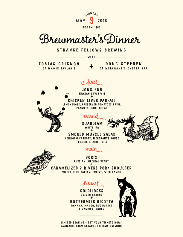 Brewmaster's Dinner!